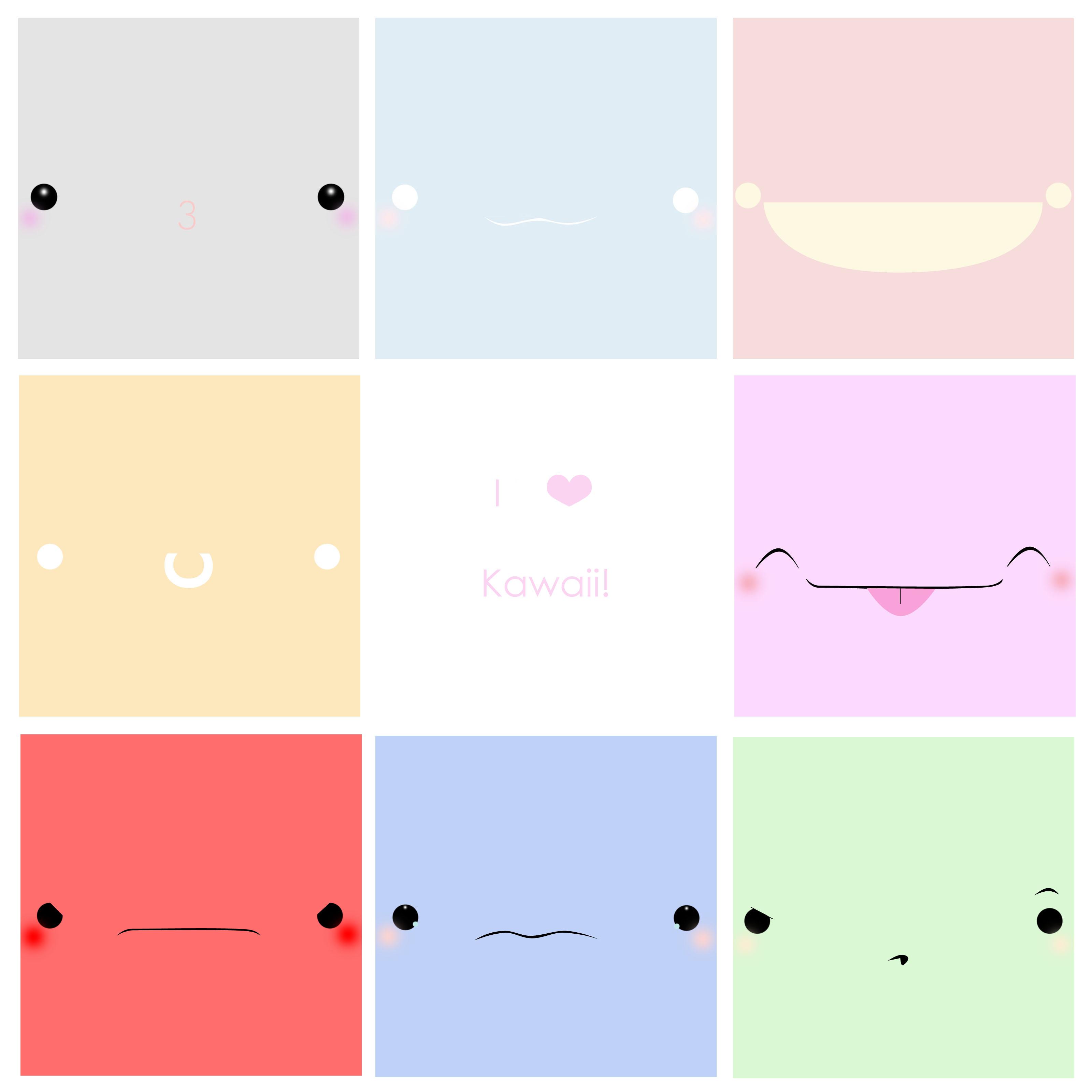 I Love Kawaii Faces by RudolphSnow