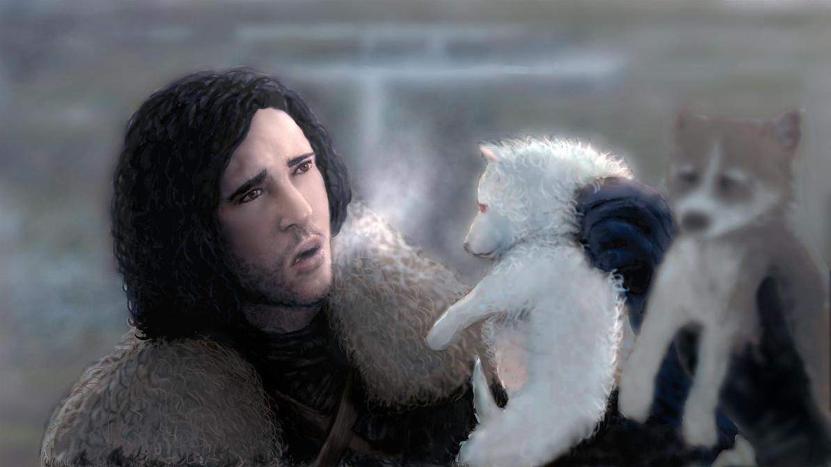 Jon Snow Meets Ghost By Modji-33 On DeviantArt