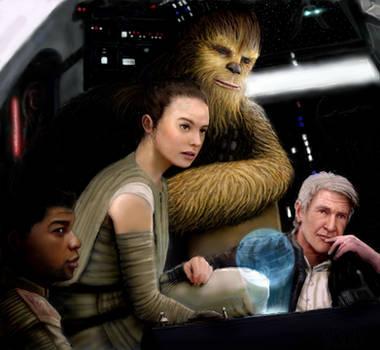 Star Wars - Force Awakens Crew by modji-33