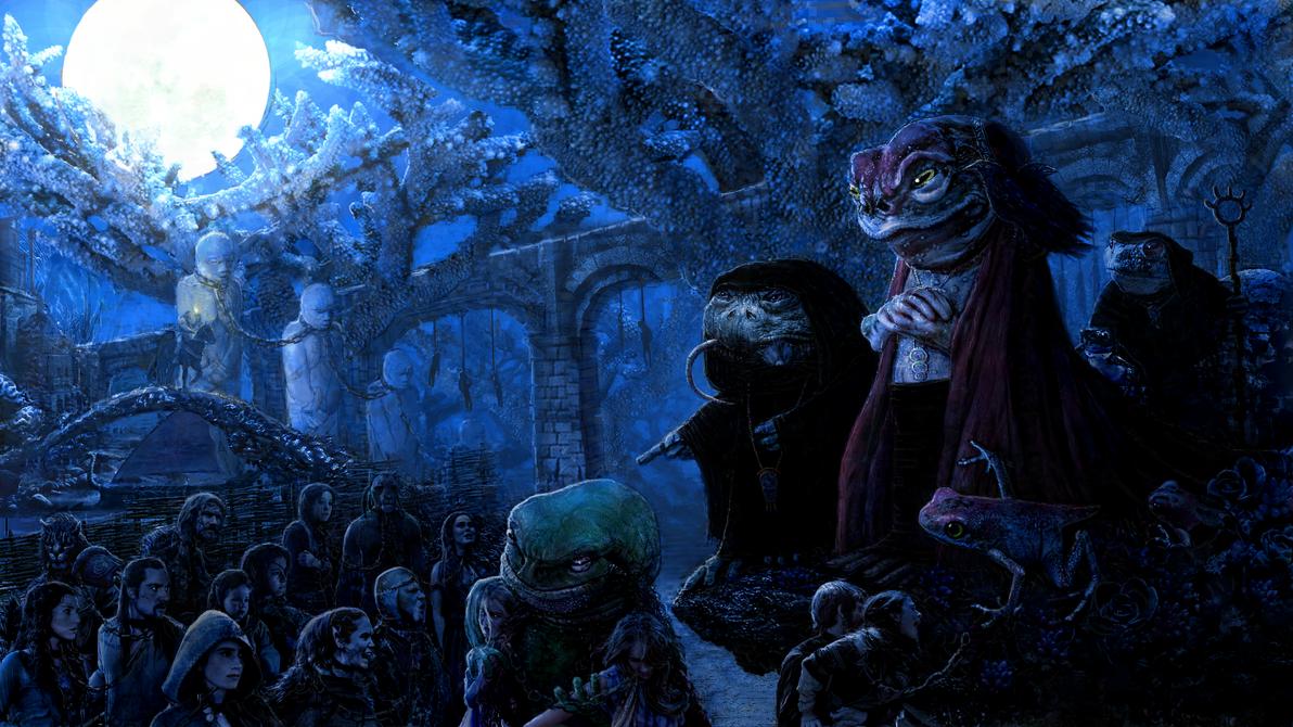 Sload Slave-market (Elder Scrolls) by modji-33