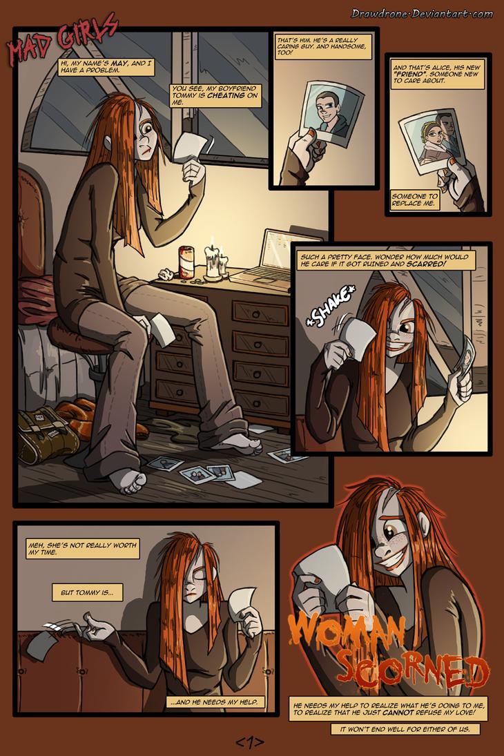 Woman Scorned pg 1 by DrawDrone