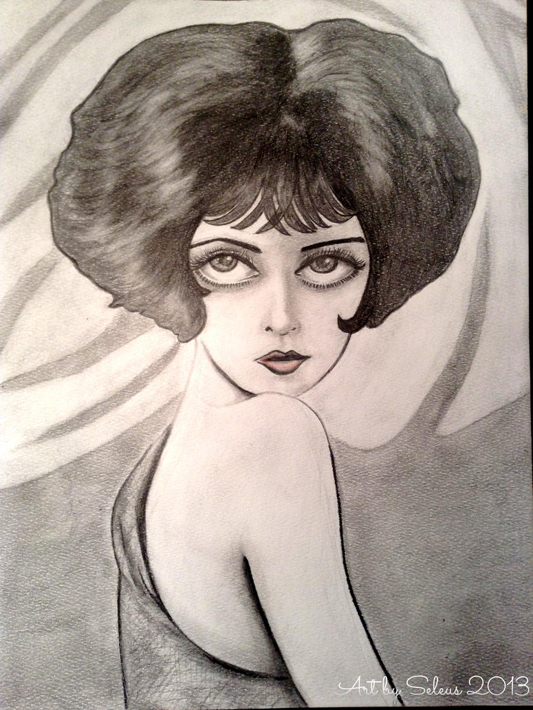 Clara Bow Caricature by lotus73