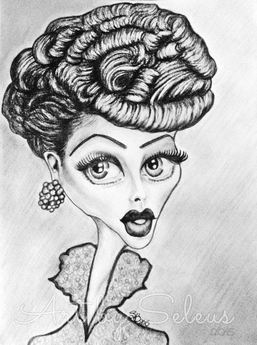 Lucille Ball Caricature by lotus73 on DeviantArt