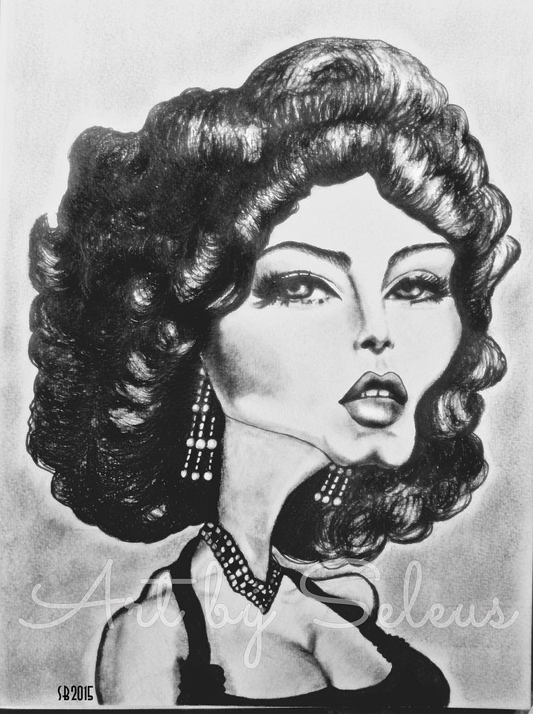 Ava Gardner Caricature by lotus73