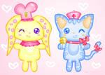 Nurse Kitty and Chef Bunny