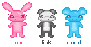 Pom Blinky and Cloud by steffne