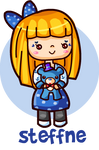 Steffne and Blueted chibi