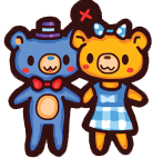 Blue ted and Sunshine charm by steffne