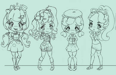 Character Line Up WIP by steffne