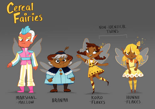 Cereal Fairies - My Webcomic Characters!