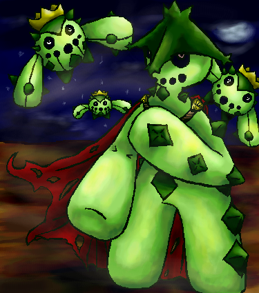 Cacturne and Cacnea by CactusClub on DeviantArt