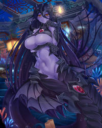 Commission - Angler Fish Mermaid