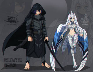 Fantasy AU - Ref Sheet 1