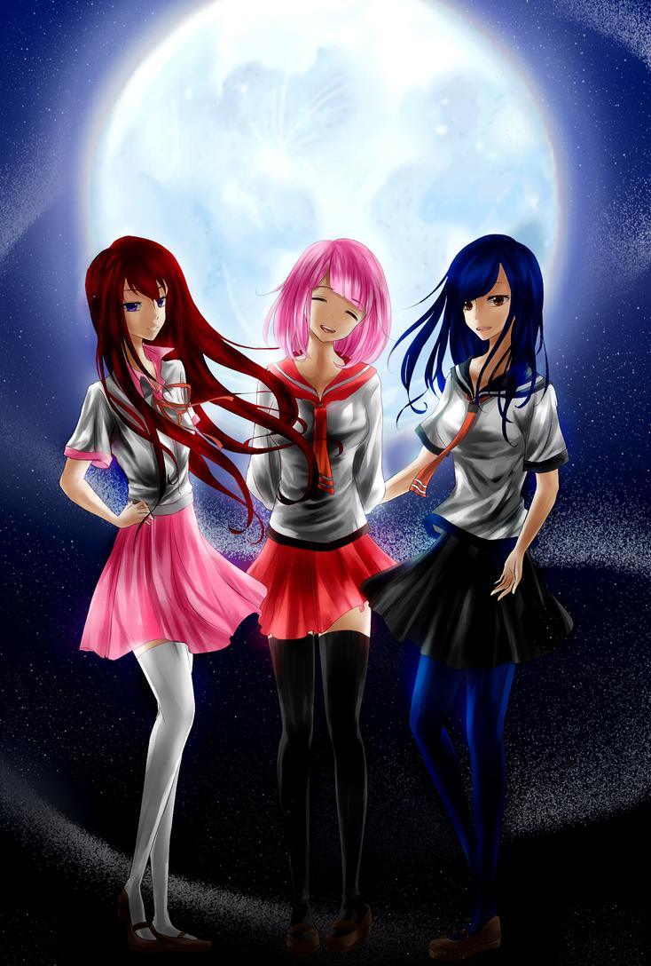 Schoolgirl Trio OCs by ED3765