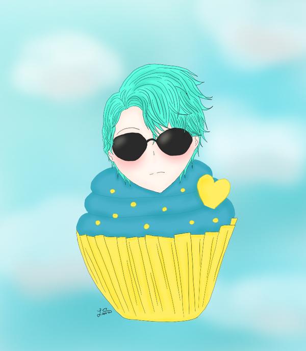 Mystic Messenger Fanart Chibi V Cupcake By Miracleribbon