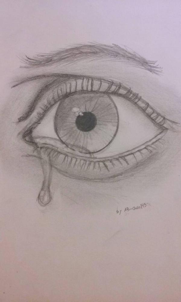 Eye crying  by abi-chan145