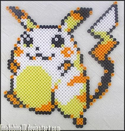 Pikachu Bead Sprite by Ginabobina101