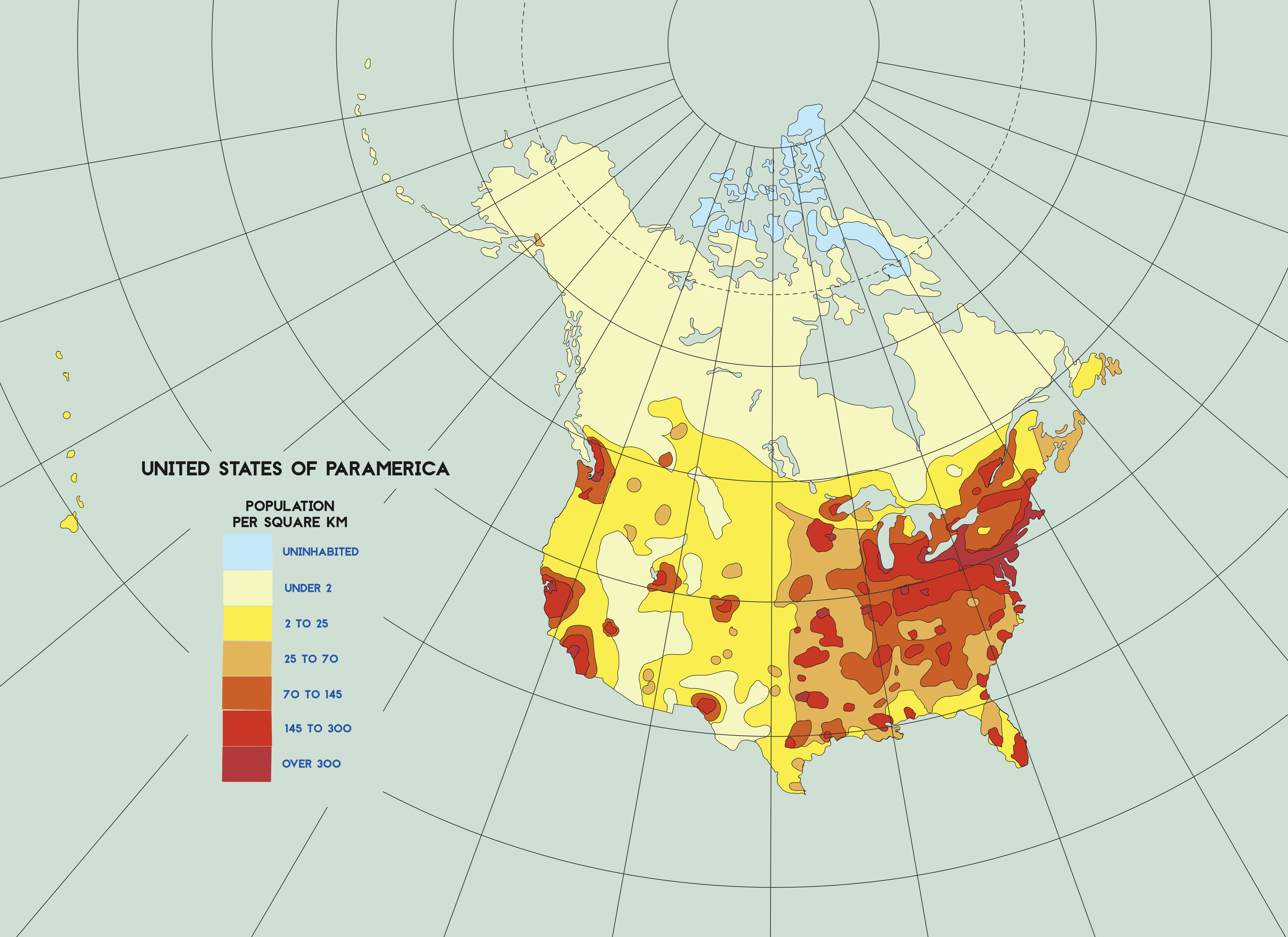 Population Density of the United States by Paramountica on ...