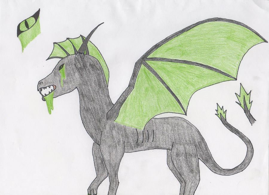 BVW: Acid- Dragon Form by lucidcoyote