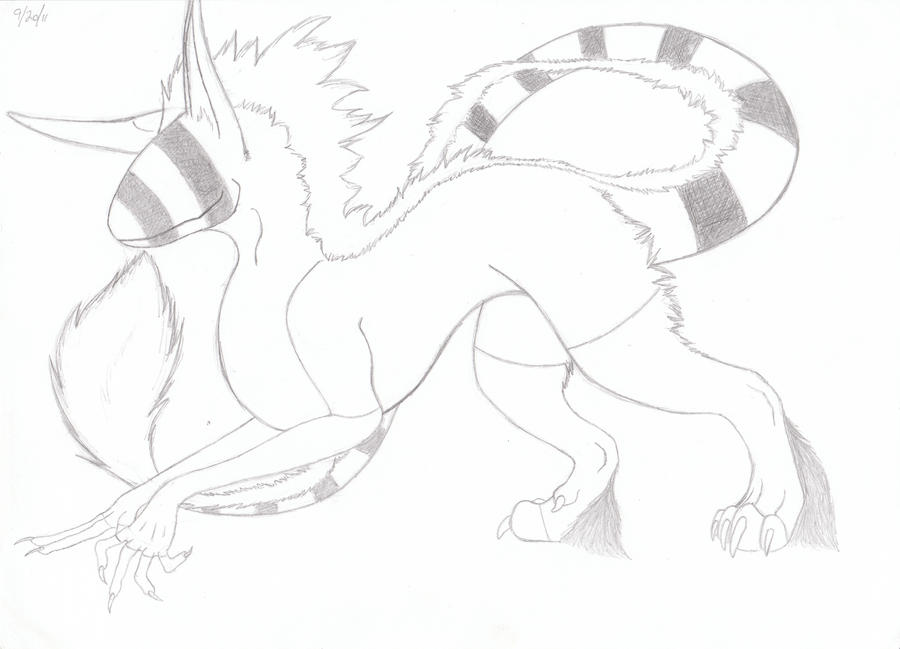 New OC WIP by lucidcoyote