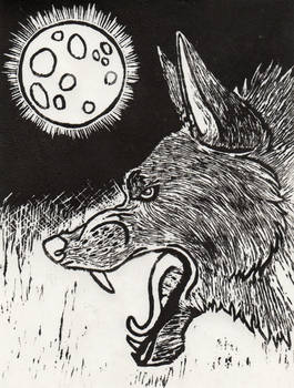 Linoleum Print :: All Hallow's Eve