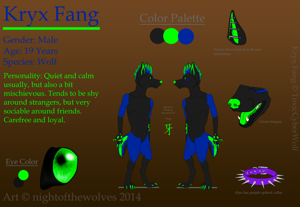 ::PC:: Kryx Reference Sheet by lucidcoyote
