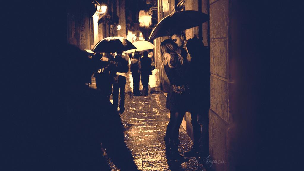 Bill Kaulitz kiss rain