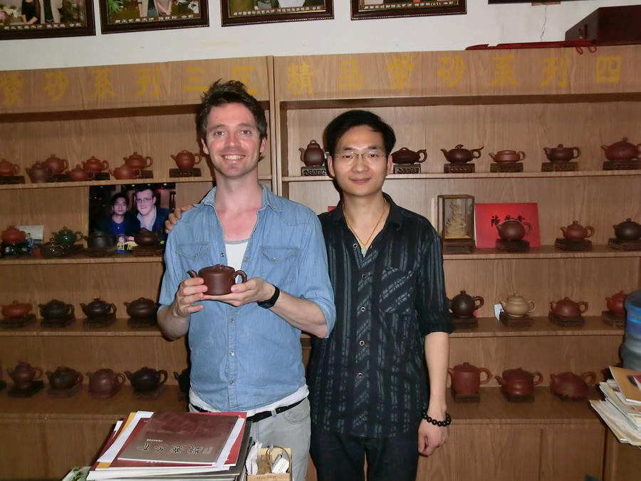 At a teapot shop by Laura-in-china