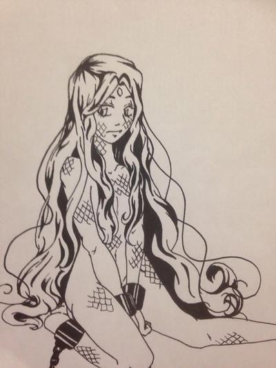 Random Girl 208 Redraw  by Margaretto-Ri