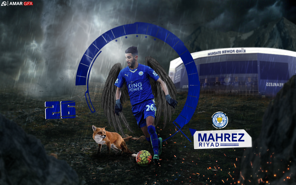 Riyad Mahrez Wallpaper By AmarGfx On DeviantArt