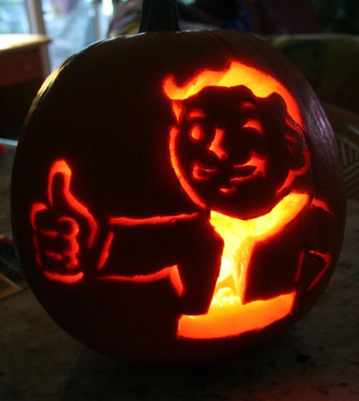PipBoy Pumpkin Fallout by CrossdressingKuja