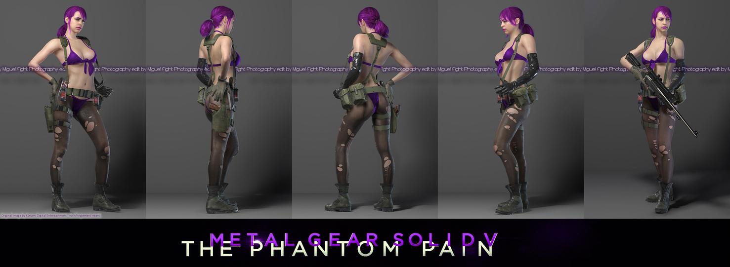 Metal Gear Solid 5 The Phantom Pain QUIET Sniper By MiguelFight