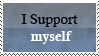 I support myself by dasaii
