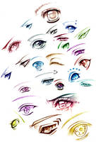 some eyes by AikaXx