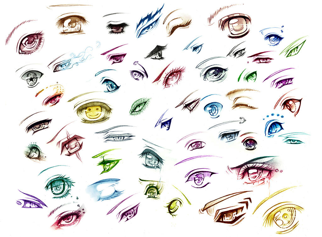All 51 eyes - Print by AikaXx on DeviantArt