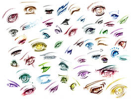 All 51 eyes - Print by AikaXx