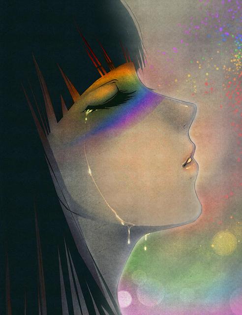 rainbow tears by AikaXx