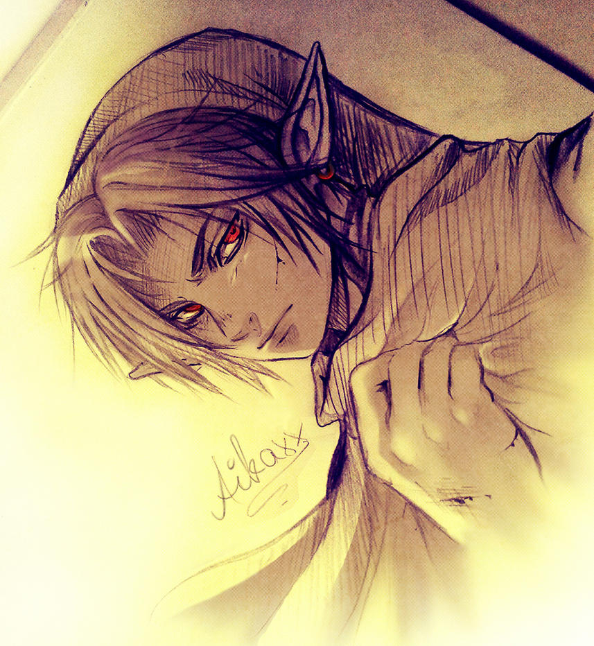 Dark Link Sketch by AikaXx