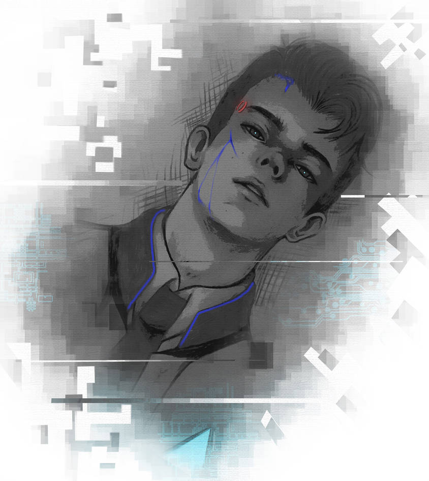 Connor RK800 Sketch by AikaXx