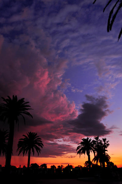 clouds at dusk by abhenna