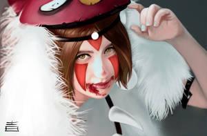 Princess Mononoke fan art - (Kei Williams cosplay)