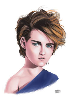 Kristen Stewart Digital Painting Practice