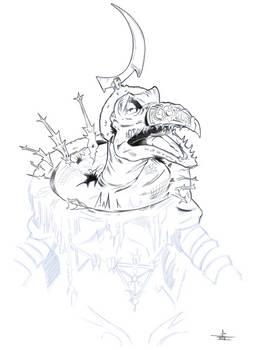 Sketch for fun and practice Skeksis emperor SkekSo