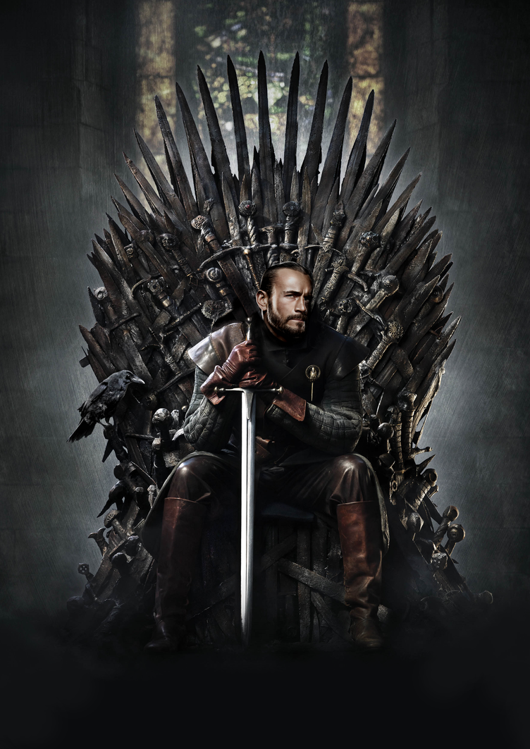 Cm punk 39 iron throne 39 rileys ad campaign base by ryancorven for Iron throne painting