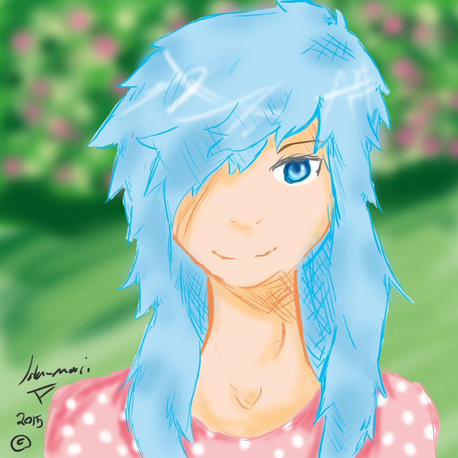 Me whit blue hair by themangalover11