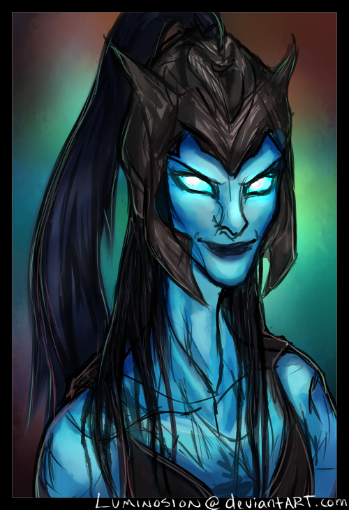 Sketch - Kalista, the Spear of Vengeance by Luminosion