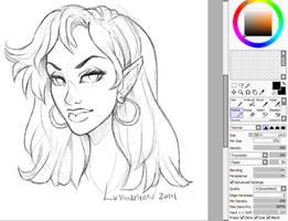 New Sai Sketch Settings by Luminosion