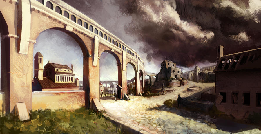 The Aqueducts at Beliseare by zombat