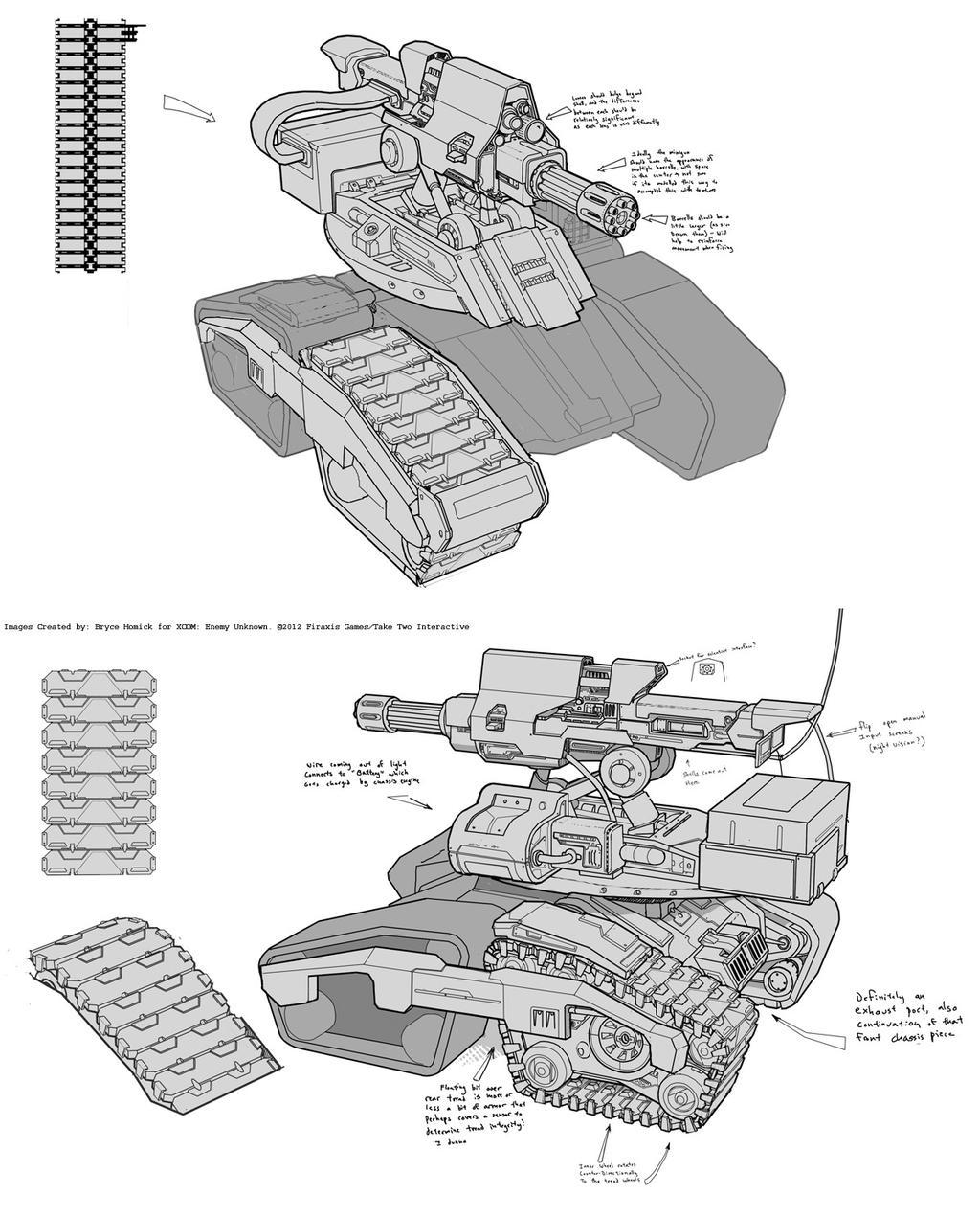 XCOM: SHIV Concept Art by zombat