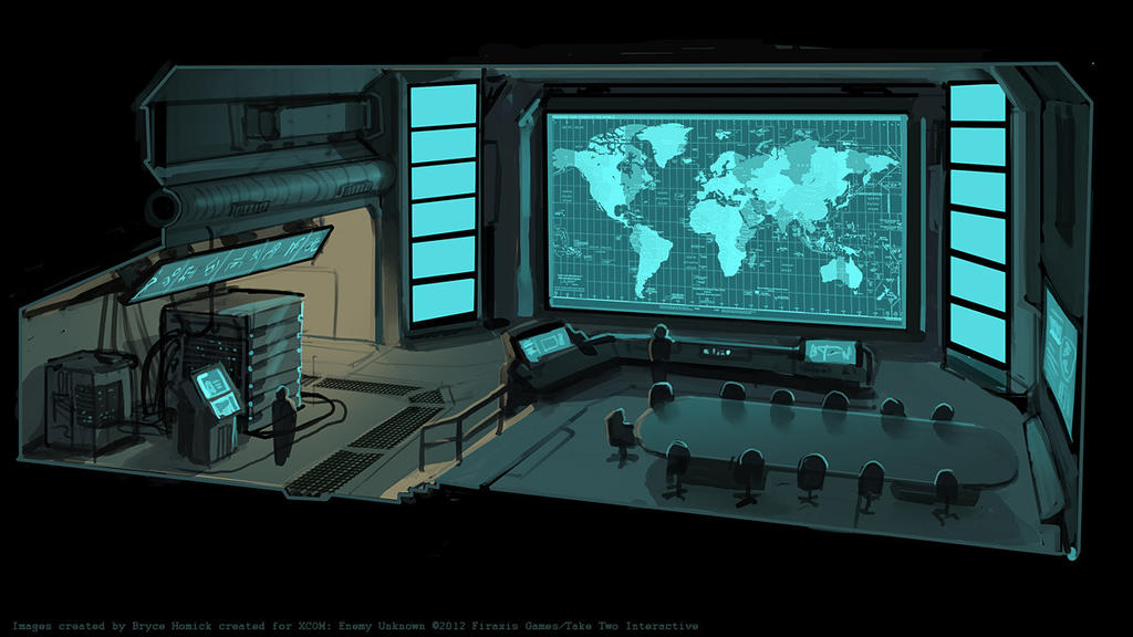 XCOM Situation Room by... Futuristic Bus